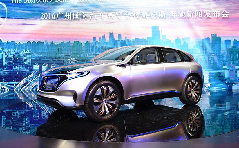 2016广州车展 奔驰EQ纯电动概念车实拍